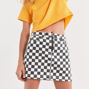 Urban Outfitter's BDG Checkered Mini Skirt